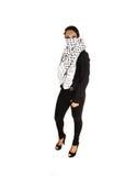 Muchacha con la bufanda. Imágenes de archivo libres de regalías