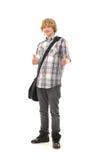 Un adolescente joven en ropa de la escuela Foto de archivo