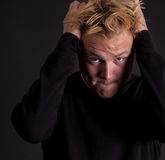 Un adolescente masculino frustrado Fotos de archivo