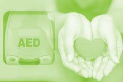 Un AED externo automatizado del defibrillator Imagen de archivo libre de regalías
