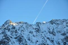 Un aereo dalle montagne polacche di Tatra Immagini Stock Libere da Diritti