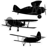 Un aereo della Bi isolato sul cielo Fotografia Stock Libera da Diritti