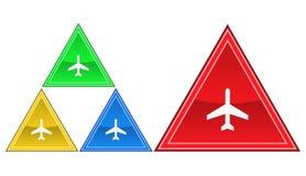 Un aereo, illustrazione dell'icona Immagine Stock Libera da Diritti