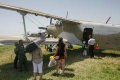 Un aeroplano 2 immagini stock libere da diritti