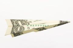 Un aeroplano del dólar Imágenes de archivo libres de regalías