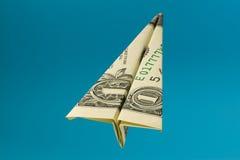 Un aeroplano del dollaro Fotografie Stock Libere da Diritti