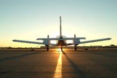 Un aeroplano gemellare del motore Fotografie Stock Libere da Diritti
