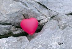 Un aerostato gonfiabile, figura del cuore Fotografia Stock Libera da Diritti