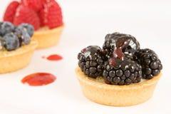 Un affichage des tartes de fruit image stock