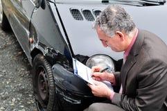 Un agente de seguro. imagen de archivo