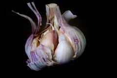 Un aglio aperto metà Fotografia Stock Libera da Diritti