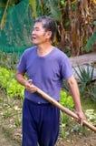 Un agricoltore locale in Hong Kong Fotografia Stock Libera da Diritti