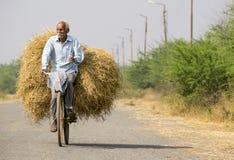 Un agriculteur revient du champ Images stock