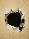 Un agujero de punto negro en el papel Imagen de archivo