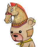 un ajedrez del oso libre illustration