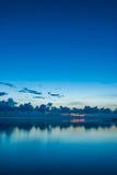 Un'alba calma Fotografia Stock