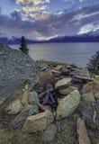 Un'alba dell'ultimo di Alaskas di 2015 Fotografia Stock Libera da Diritti