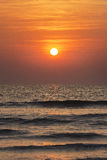 Un'alba nel mare Fotografia Stock Libera da Diritti
