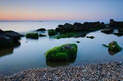 Un'alba vicino al mare Immagine Stock