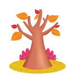 Un albero in autunno Immagini Stock Libere da Diritti