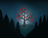 Un albero di amore Fotografie Stock Libere da Diritti