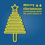 Un albero di Natale giallo-chiaro Fotografia Stock Libera da Diritti