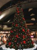 Un albero di Natale in modo bello decorato fotografia stock libera da diritti