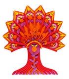Un albero-fiore fantastico di fantasia Fotografia Stock
