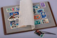 Un album dei francobolli Immagini Stock Libere da Diritti