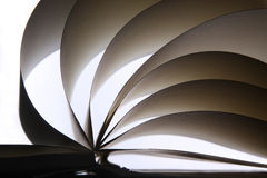 Un album ou un livre ouvert, avec les lames propres du papier. Photographie stock