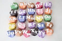 un alfabeto di 26 lettere Immagini Stock