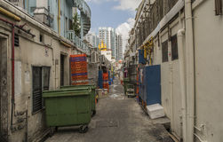 Un aliado trasero en Singapur Fotos de archivo