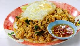 Un alimento tailandés del plato Fotografía de archivo
