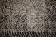 Un alivio de bas de Angkor Wat 001 fotos de archivo