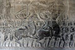 Un alivio de bas de Angkor Wat 002 Imagenes de archivo