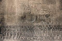 Un alivio de bas de Angkor Wat 003 Foto de archivo