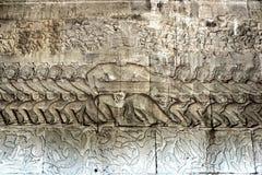 Un alivio de bas de Angkor Wat 004 Imagen de archivo