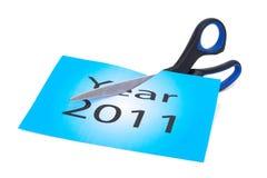 Un alla fine di 2011 sta avvicinandosi a Fotografia Stock