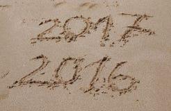 Un alla fine di 2016, un inizio di 2017 Fotografie Stock