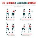 un allenamento diritto minuto di 15 ABS Fotografia Stock