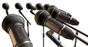 Microfoni ed allineamento dei supporti Fotografie Stock