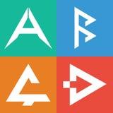 Un alphabet de B C D Marquez avec des lettres qui appartiennent à vos affaires Images libres de droits