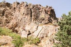 Un'alta scogliera ripida Fotografia Stock