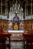 Un altar en un castillo Fotografía de archivo libre de regalías
