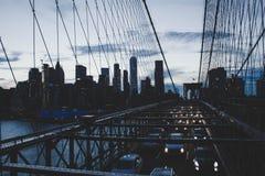 Un alto tiro hermoso del puente de Manhattan fotos de archivo libres de regalías