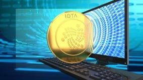 Un'altra alternativa online della moneta, di iota, del denaro elettronico e del bitcoin illustrazione di stock
