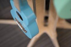 Un'altra bella chitarra blu Fotografie Stock Libere da Diritti
