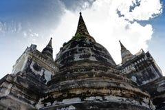 Un'altra foto del tempio principale di Wat Phra Si Sanphet nella vista splendida Immagine Stock Libera da Diritti