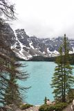 Un'altra prospettiva del lago Canada moraine fotografia stock