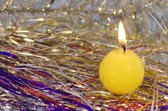 Un altro angolo di una candela. Immagini Stock